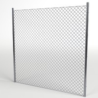 3d wire fence module uv model
