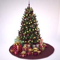 3d model of christmas tree 02 update