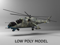 Low poly Mi-24 Helicopter