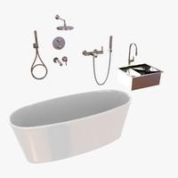 Plumbing fixtures set