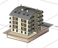Exterior Apartment Revit Project