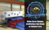 Corso 3ds max Interni Bedroom Versione MP4