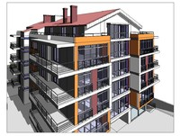 Building Apartment Project Revit