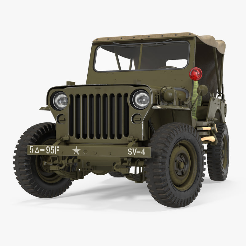 3D Max Jeep Willys Convertible