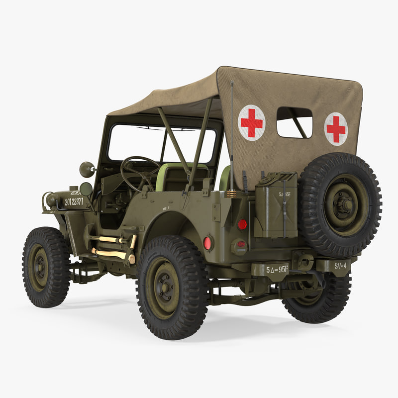 3D 3ds Willys Jeep Ambulance