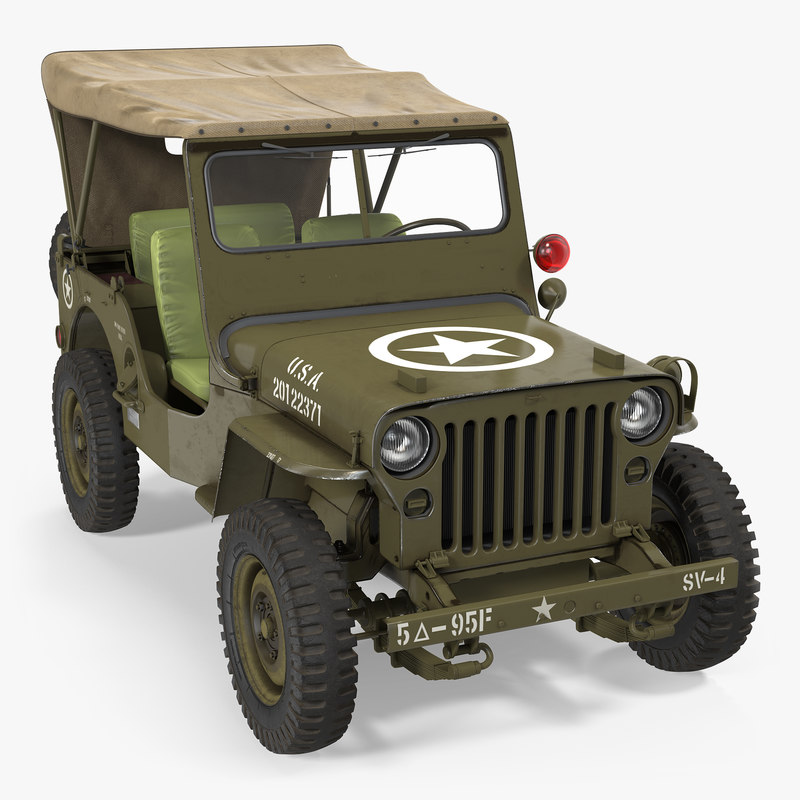 3D 3ds Jeep Willys 1944