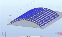 Hangar Model Revit and Robot Structural