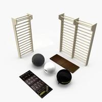 Sport equipment, technogym tools, fitness ball