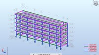 Building Structure Revit and Robot Structural Analysis Model