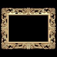 (404) Mirror Frame -3d STL model for CNC