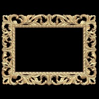 (408) Mirror Frame -3d STL model for CNC