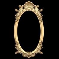 (409) Mirror Frame -3d STL model for CNC