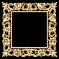 (410) Mirror Frame -3d STL model for CNC