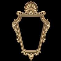 (412) Mirror Frame -3d STL model for CNC
