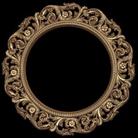 (415) Mirror Frame -3d STL model for CNC