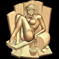(426) Sauna -3d STL model for CNC