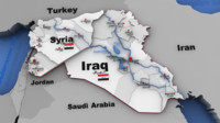 Iraq , Syria and Middle East map