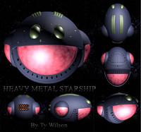 3d model spaceship heavy metal