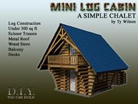 mini log cabin 3d max