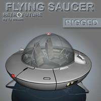 3dsmax retro flying saucer