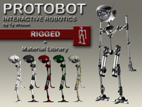 3d rigging bot model