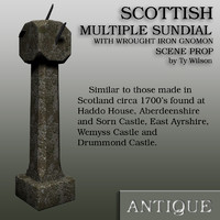 scottish sundial 3d x