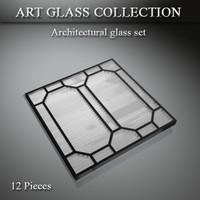 3d model architectural art glass