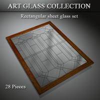 3d model art glass window