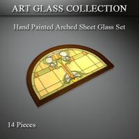3d max art glass