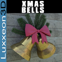 3d model holiday bells