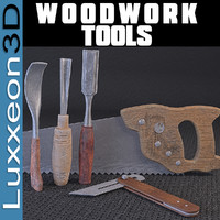 tools woodworkers wood work 3d model