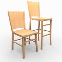Classic Wooden Chair & Bar Stool
