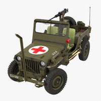 Jeep Willys MB Ambulance Rigged