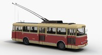 Skoda 9Tr Trolleybus with passengers