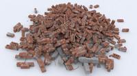 Brick rubble pile