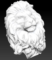 king Lion head bust