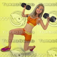 Urban Girl Working Out 3 Stock Illustration