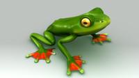flying frog 3d model