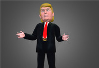 Trump caricature low poly