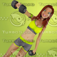 Urban Girl Working Out 4  Stock Illustration