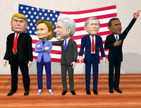 US politician caricature pack