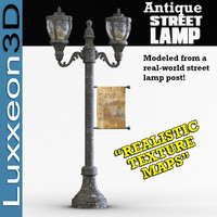 antique street lamp 3d model