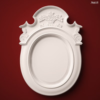 (615) Mirror Frame  -3d STL model for CNC