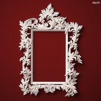 (619) Mirror Frame - 3d STL model for CNC