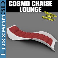 cosmo chaise longue furniture chair 3d model