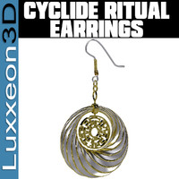 pair cyclide ritual earrings max