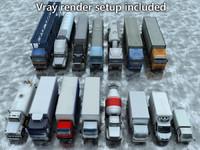 15 lowpoly trucks vol1