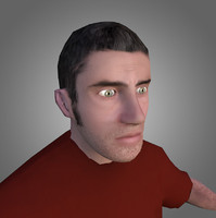 Male Citizen Low-Poly