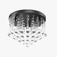 CANARM Daya Crystal Flush Mount Ceiling Light
