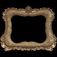 (a-15) Mirror Frame -3d STL model for CNC